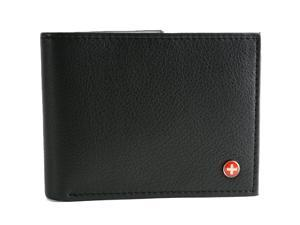 Alpine Swiss Men's Leather Wallet Multi Card Flip ID High Capacity Compact Bifold