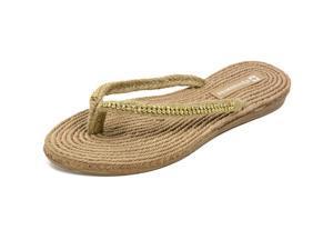 AlpineSwiss Womens Rhinestone Sandals Padded Sole Thongs Comfort Flat Flip Flops