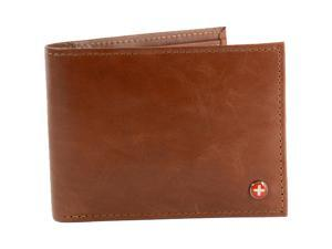 Alpine Swiss RFID Blocking Mens Leather Bifold Wallet Removable ID Card Passcase