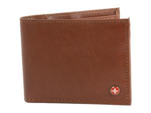 Alpine Swiss Mens Wallet Real Leather Bifold Trifold Hybrid Foldout ID Card Case