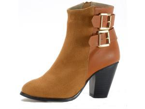 "Alpine Swiss Nendaz Women's Ankle Boots Tailored 3"" Block High Heel Ankle Bootie"
