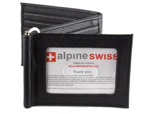 Alpine Swiss Men's RFID Blocking Z Shape Wallet Trifold Bifold Spring Money Clip