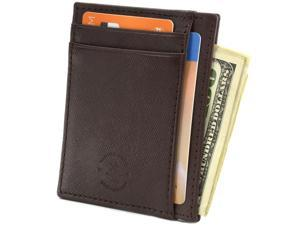 RFID Blocking Hammer Anvil Front Pocket Wallet Thin Slim Leather Multi Card Case