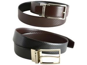 Alpine Swiss Men's Dress Belt Reversible Black Brown Leather Imported from Spain