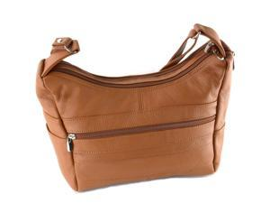 Women's Genuine Leather Purse Mid Size Multiple Pocket Shoulder Bag Handbag New