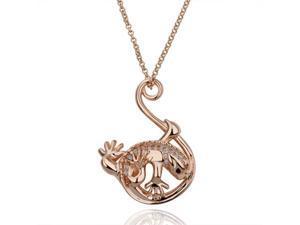18K Rose Gold Plated SWAROVSKI ELEMENTS Crystal Pendant Necklace