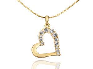 18K gold plated SWAROVSKI ELEMENTS Pendant Necklace White Gold