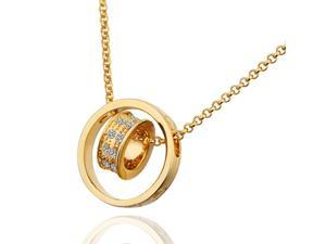 18K gold plated SWAROVSKI ELEMENTS Pendant Necklace White Gold