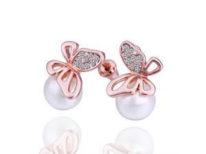 Swarovski Crystal 18K Gold Plated Earrings