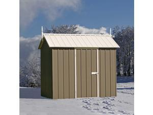 EnduraShed Storage Sheds - Extreme Series.  8'x5' Slate Gray Snow Metal Shed. The highest roof strength garden shed on the market.