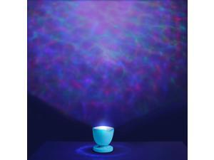 Ocean Wave Night Light Projector and Bluetooth Speaker. Romance and Relax Effect. Multicolor Led Bulbs or Single Color….blue Red and Green. (Blue)