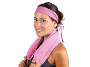 Cooling Towel - Cooling Bandana Pack- Yoga Towel - Keep Cool While Running - Hiking And all Other Sports - Beautiful Tube Packaging