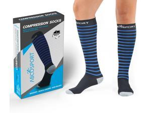 Compression Socks – Graduated Compression Performance, 20-25mmHg – Relieves Swelling – Dress Socks - Best For Running, Athletic Sports, Travel & Crossfit – New Design, (1 Pair) (Small)