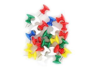 Swingline S7071759 Work Essentials Jumbo Push Pins, Assorted Colors (25-Pack)