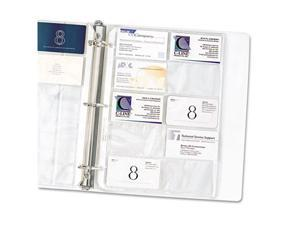 C-Line Products- Inc. CLI61217 Business Card Refill Pages- 200 Card Cap- 11in.x8-.50in.- Clear