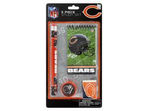 National Design NFL 5 Piece School Supply Study Set, Chicago Bears -11053