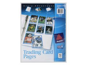 Avery Trading Card Pages, Storage, Acid-Free, Holds 90 Cards, 10/Pack (76016)