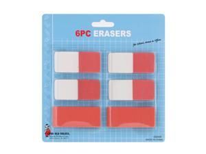 Good Old Values Jumbo & Dual Erasers, 2 Jumbo Erasers & 4 Dual Sided Erasers Each