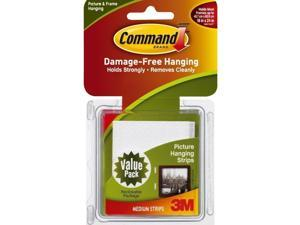 3M Command Medium Picture Hanging Strips, White, 12 Sets/Pack