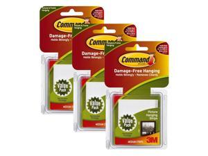 3M Command Medium Picture Hanging Strips, White, 36 Sets/Pack