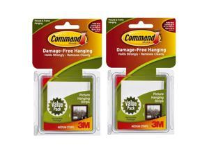 3M Command Medium Picture Hanging Strips, White, 24 Sets/Pack
