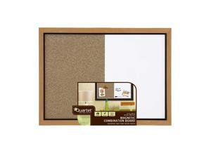 Quartet Home Decor Combination Board, 17 x 23 Inches, Dry-Erase/Cork, Two-tone Frame, Oak (HDC1723BM)