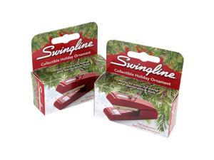 Swingline Collectible 747 Red Business Decroative Stapler Holiday Ornament, Pack of 2