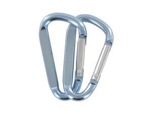 "SecureLine 2"" Bright Spring Link Carabiner 1/4 in Clip, Pack of 2 - Light Blue"
