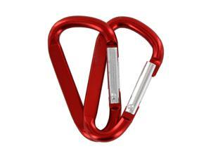 "SecureLine 2"" Bright Spring Link Carabiner 1/4 in Clip, Pack of 2 - Red"