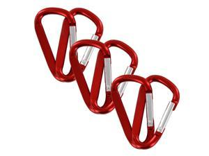 "SecureLine 2"" Bright Spring Link Carabiner 1/4 in Clip, Pack of 6 - Red"