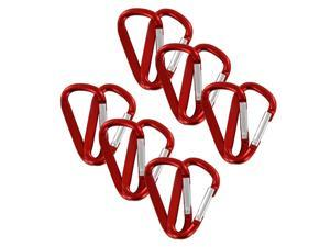 "SecureLine 2"" Bright Spring Link Carabiner 1/4 in Clip, Pack of 12 - Red"