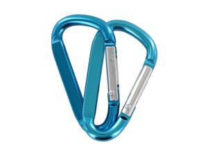 "SecureLine 2"" Bright Spring Link Carabiner 1/4 in Clip, Pack of 2, Turquoise"