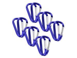 "SecureLine 2"" Bright Spring Link Carabiner 1/4 in Clip, Pack of 12 - Purple"