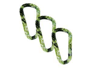 "SecureLine 3"" Animal Print Spring Link Carabiner 5/16 in Clip, Pack of 3 - Snake"