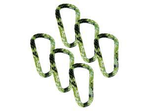 "SecureLine 3"" Animal Print Spring Link Carabiner 5/16 in Clip, Pack of 6 - Snake"