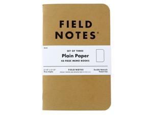 Field Notes Original Kraft 48-Page Memo Book, Pack of 3, Plain