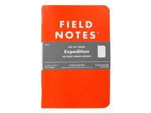Field Notes Expedition 48-Page Memo Book, Pack of 3, Dot-Graph Paper