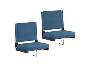 Flash Furniture Game Day Seats by Flash with Ultra-Padded Seat, Green, Pack of 2