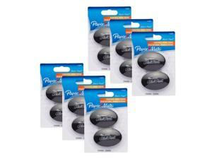 Paper Mate Black Pearl Premium Erasers, Pack of 12 (1742567)