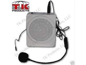 Aker Voice Amplifier 10watts White MR1508 by TK Products LLC, Portable, for Teachers, Coaches, Tour Guides, Presentations, Costumes, Etc.