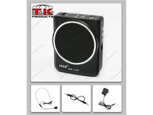 Aker Voice Amplifier & Mp3 Player 12watts Black MR1700 by TK Products,Portable, for Teachers, Coaches, Tour Guides, Presentations, Costumes, Etc.