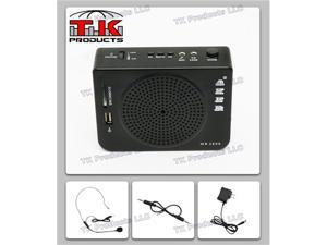 Aker Voice Amplifier & Mp3 Player & FM Radio 16watts Black MR2800 by TK Products, Portable, for Teachers, Coaches, Tour Guides, Presentations, Costumes, Etc.
