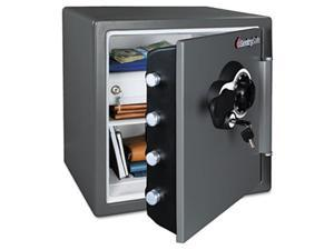 NEW-Combination Fire-Safe, 1.23 ft3, 16-3/8w x 19-3/8d x 17-7/8h, Gray-SFW123DEB