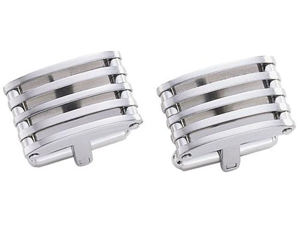 Pierce Stainless Steel Cufflinks