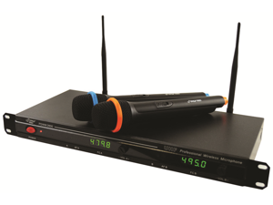 PylePro PDWM2800 Professional UHF Wireless Microphone System With 2 Microphones
