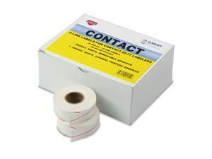 Two-Line Pricemarker Labels 5/8 x 13/16 White 1000/Roll 16 Rolls/Box