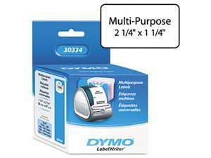Dymo Corporation DYM30334 Multipurpose Labels- Medium- 2-.25in.x1-.25in.- 1000-RL- White