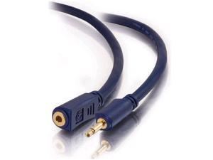 C2G 6ft Velocity 3.5mm Mono Audio Extension Cable M/F