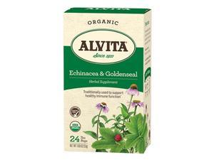 Alvita Teas Echinacea and Goldenseal Tea - Organic - 24 Tea Bags