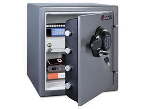 Electronic Fire-Safe, 1.23 Ft3, 16-3/8W X 19-3/8D X 17-7/8H, Gunmetal Gray